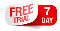 Free 7 Day Trial Label