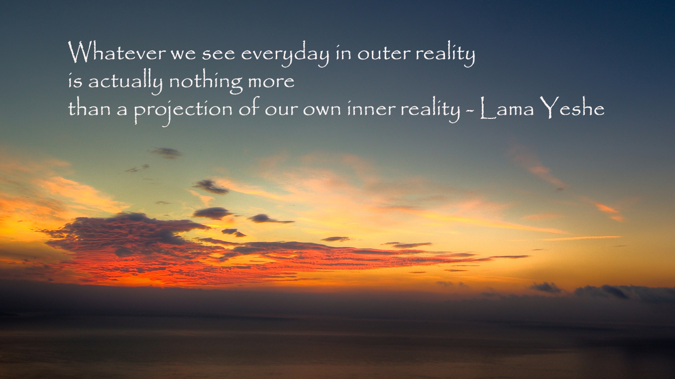 Outer and inner reality are the same