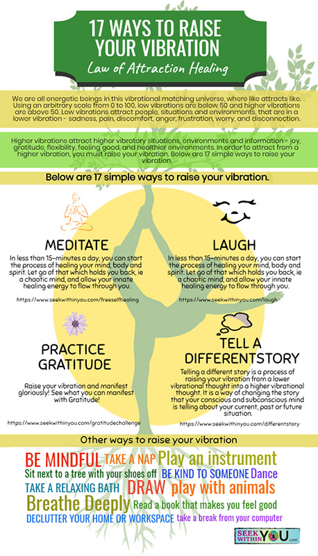 Infographic - 17 Ways to Raise your Vibration