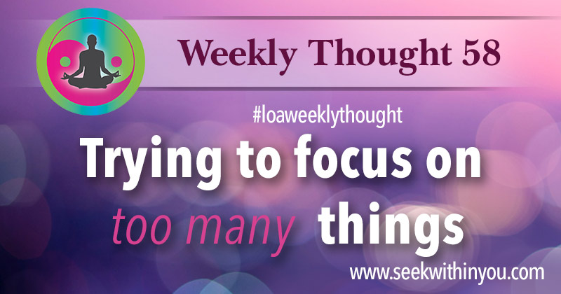 Law of Attraction Weekly Thought 58