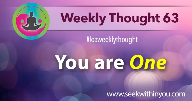 Law of Attraction Weekly Thought 63