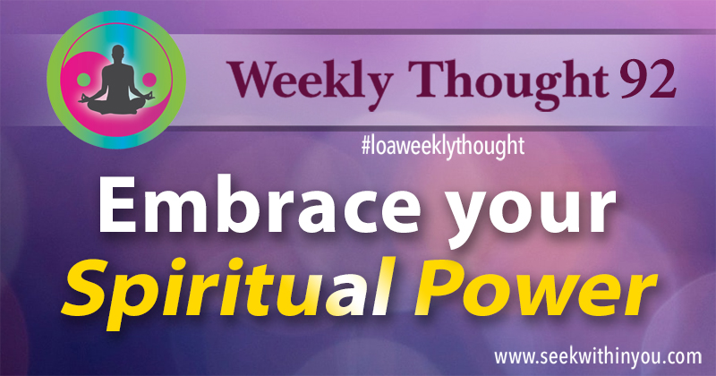 Law of Attraction Weekly Thought 92