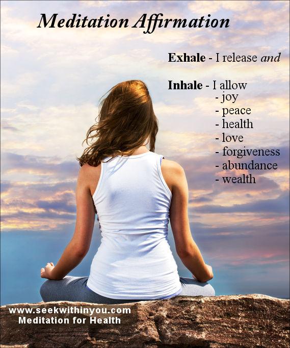 Meditation affirmation or mantra